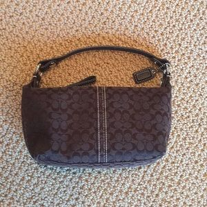 Coach brown mini bag like new!